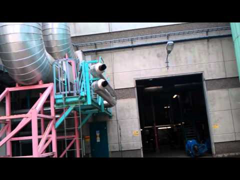 Big diesel generator exhaust