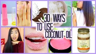30 Life Hacks Using Coconut Oil! | 30 Ways To Use Coconut Oil!