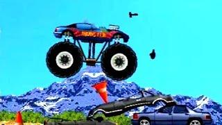 CARS Машинки. Monster Truck Монстр трак для детей #1.Monster Truck давит машины