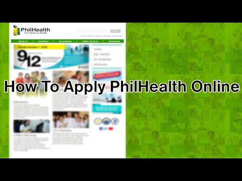 How To Apply PhilHealth Online