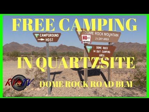 FREE CAMPING IN QUARTZSITE !! Dome Rock Road BLM.. Aerial Views..RV Boondocking
