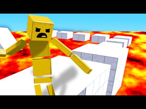 Forcing a RAGDOLL to Survive an Obstacle Course but the FLOOR is LAVA in Fun With Ragdolls: The Game