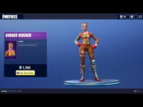 fortnite ginger gunner outfit holiday themed female character - gingerbread costume fortnite