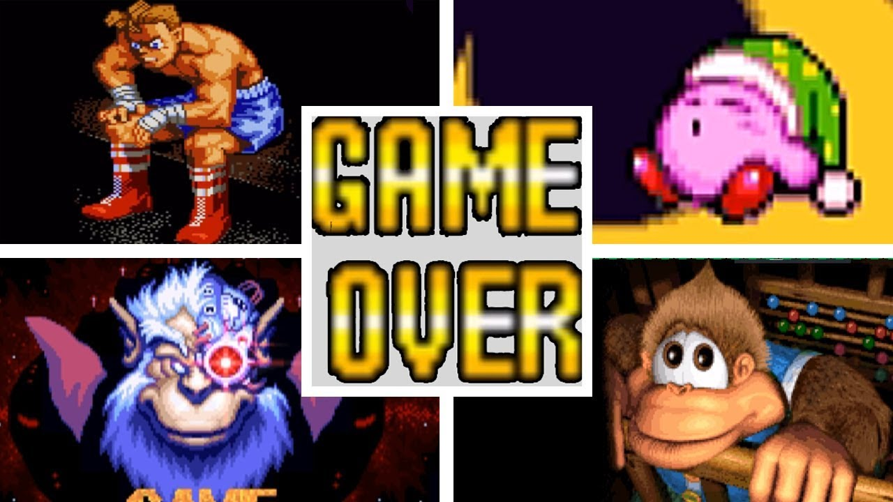 Classic SNES Video Game Deaths & Game Over Screens