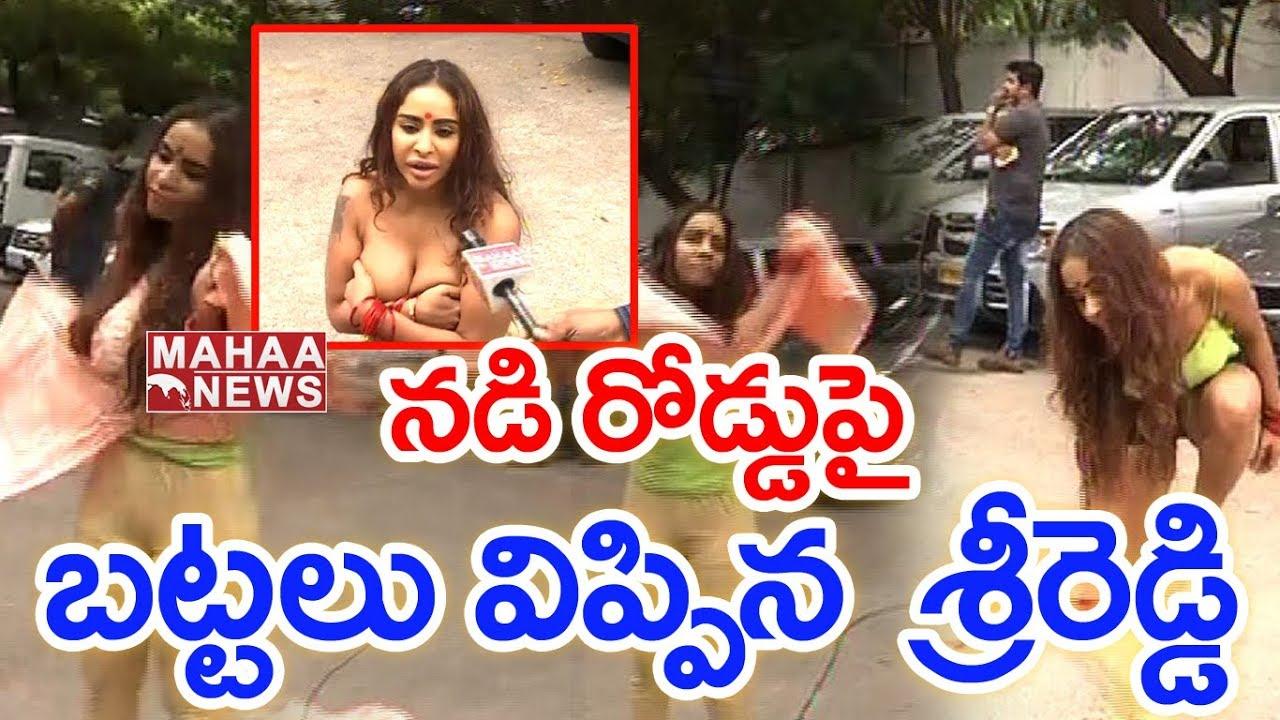 Download BREAKING NEWS!!! Sri Reddy Removes Her Dress In Public | Mahaa News Exclusive