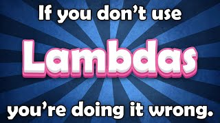 Thumbnail for 'Lambda expressions are awesome - C# tutorial'