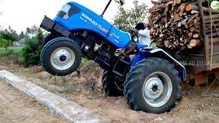 Sonalika DI 47 RX Tractor fully loaded | JCB Machine Help | Sonalika Tractor Stunt