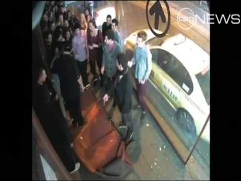 Bouncer ko'd Guy Then Punches Woman