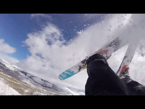 Helmet cam shows what it's like to be buried by an avalanche
