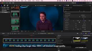 Apple Final Cut Pro X: إنشاء الأساسية الأخضر-الشاشة الرئيسية - لاري الأردن PowerUp الويبينار 256B