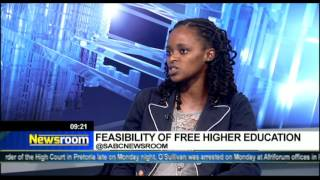 Newsroom: Feasibility of free higher education