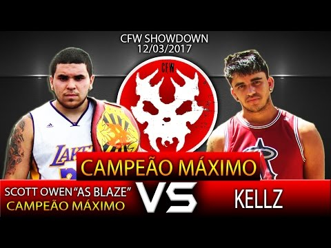 "CFW SHOWDOWN 12/03/2017 - Scott Owen ""As Blaze"" vs Kellz (Val. Campeão Máximo)"
