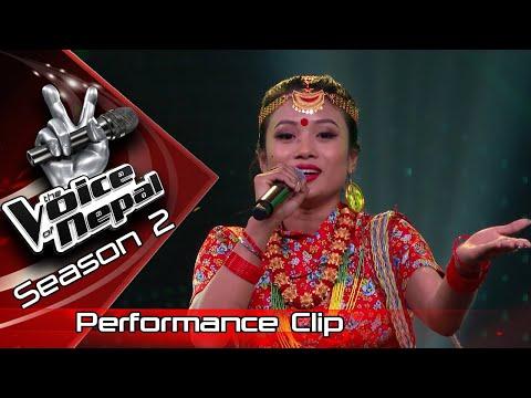 "Mechu Dhimal ""Aakasaima Chil Ho Ki Besara"" - LIVE -The Voice Of Nepal Season 2 - 2019"