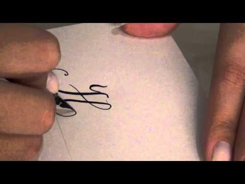 Caligrafia Artística - Alfabeto Maiúsculo Parte 1