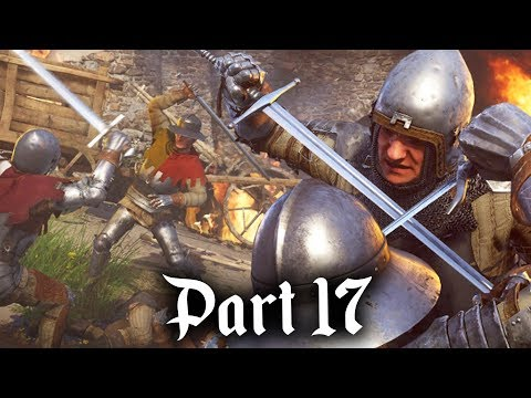 BIG BATTLE & RUNT - Kingdom Come Deliverance Gameplay Walkthrough Part 17 - BAPTISM OF FIRE