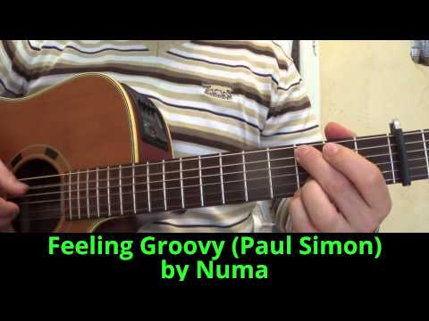 Guitar Feeling Groovy (Paul Simon) acoustic cover (59th street bridge song)