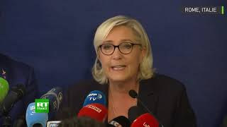 Au côté de Matteo Salvini, Marine Le Pen tire à boulets rouges sur le «mondialisme» et l'UE