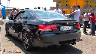 500hp BMW M3 E92 Straight Pipes Exhaust - INSANE SOUND ACCELERATION - 0-400m