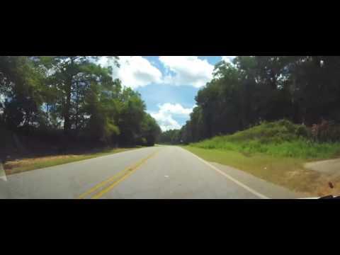 Driving through Houston County, Alabama and Jackson County, Florida