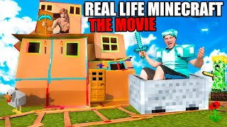 Real Life MINECRAFT The Movie! 7 Day Challenge Building The Boxfort City (Part 1)