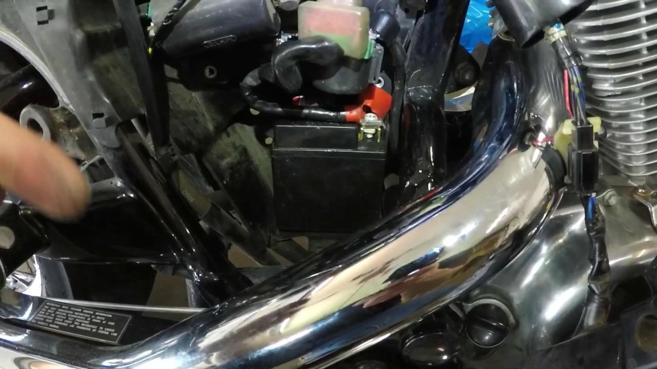 hight resolution of vt600c honda shadow battery removal