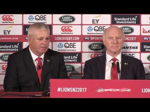 Warren Gatland first press conference as 2017 Head Coach | British & Irish Lions