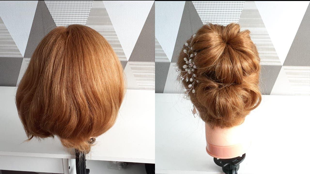 Sanggul Modern Mudah untuk Rambut Pendek (easy updo for ...