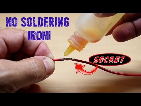 How To Easily Solder Wires Together(No Soldering Iron)