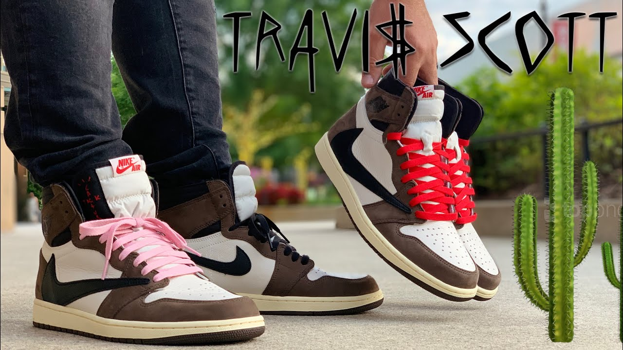 finest selection 3813a 1fc1c ON FEET: EVERY LACE COLOR in the Air Jordan 1 TRAVIS SCOTT