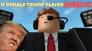 Si Donald Trump jugara ROBLOX