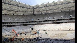 На стадионе Ростов-Арена тестируют полив газона! До открытия 5 месяцев!
