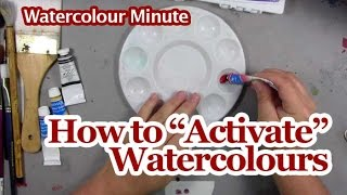 Watercolour Painting Lesson - How to Activate Tube Watercolours