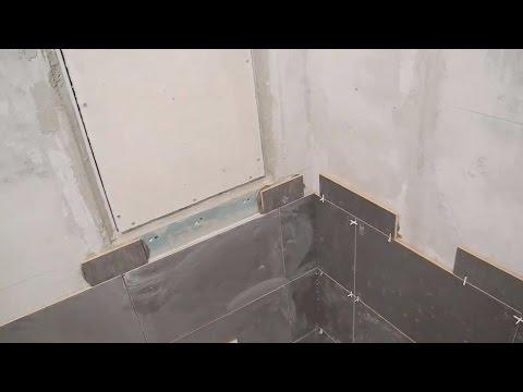 Облицовка ванной комнаты, плиткой,зеркалами и мозаикой ч.1