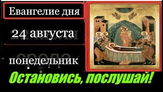 24 августа Понедельник Евангелие дня с толкованием Апостол Церковный календарь Молитва