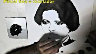 Dibujo a Tinta - Ink Drawing - Isabella Rossellini