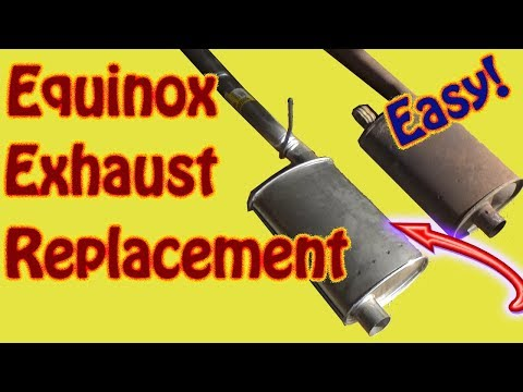 Chevy Equinox Exhaust Replacement – How to Replace a Muffler on a 2011 Chevy Equinox  GMC Terrain