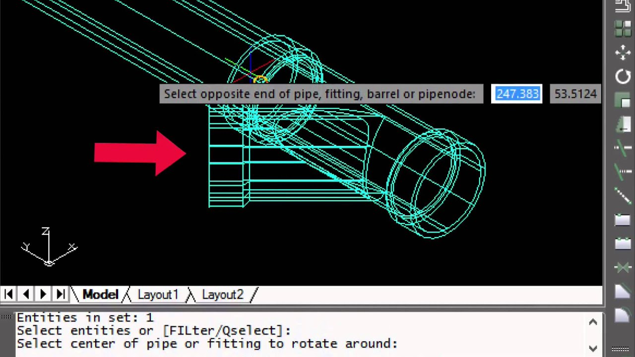 Pipe Fitting Layout Piping Tutorial How To Rotate A Even If You Know Nothing About Ucs Or Cad