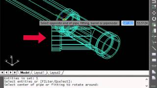 How to rotate a 3D pipe fitting even if you know nothing about UCS or 3D CAD