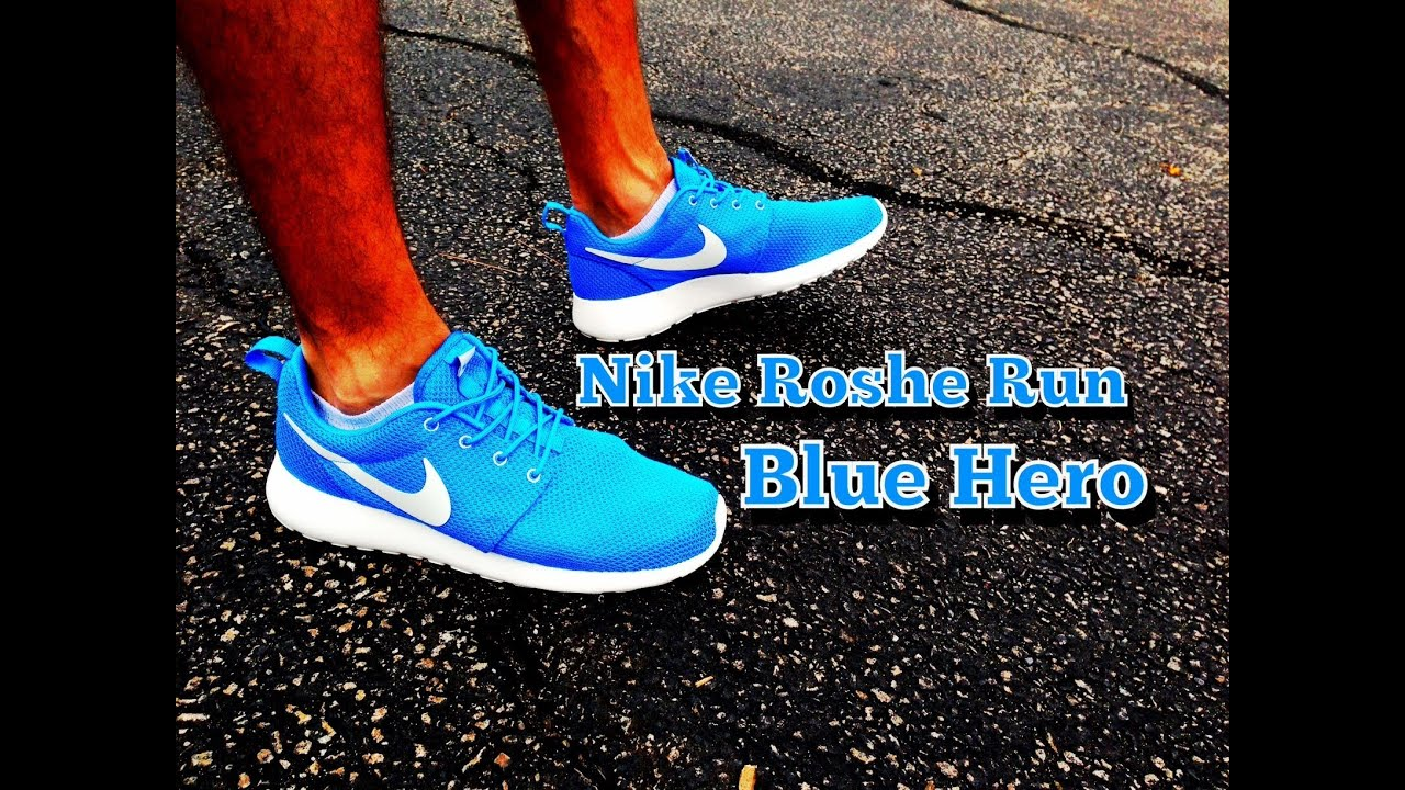 the latest ea9a0 9310c Nike Roshe Run Blue Hero Review  On Feet