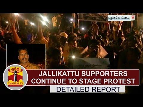 DETAILED REPORT: Pudukkottai Jallikattu supporters continue to stage protest | Thanthi TV