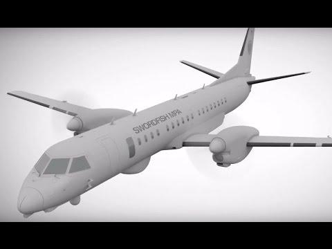 Saab - Swordfish Maritime Patrol Aircraft (MPA) Simulation [1080p]
