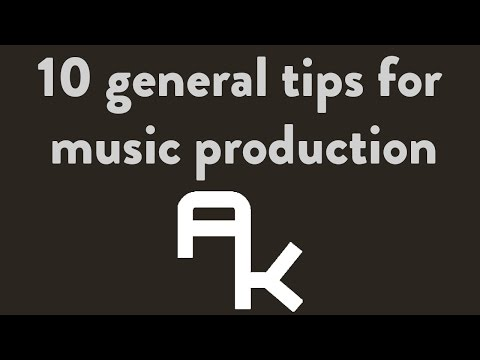 10 Tips for Music Production (INTERMEDIATE)