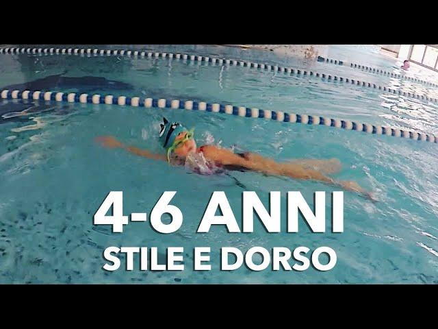 Stile e dorso: nuoto bimbi da 4 a 6 anni!