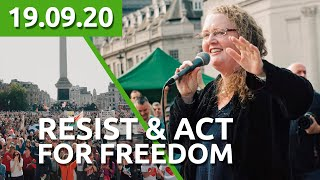 PROF DOLORES CAHILL & DR ANDREW WAKEFIELD - RESIST & ACT FOR FREEDOM - 19.09.2020 at London