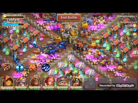 Castle Clash Insane Dungeon 5-4 100% (F2P)