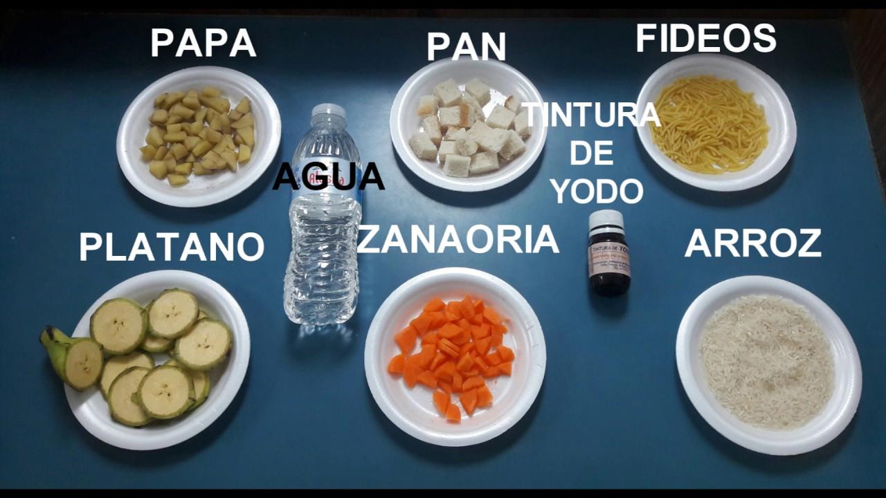 alimentos con glucosa y almidon