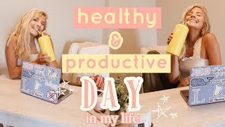 productive day in my life! // online classes, working out & shopping