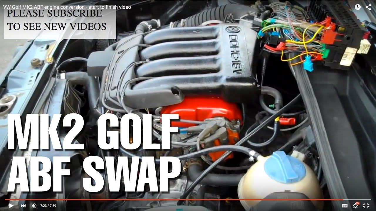 vw golf mk1 wiring diagram classic mini front suspension mk2 abf engine conversion - start to finish video youtube