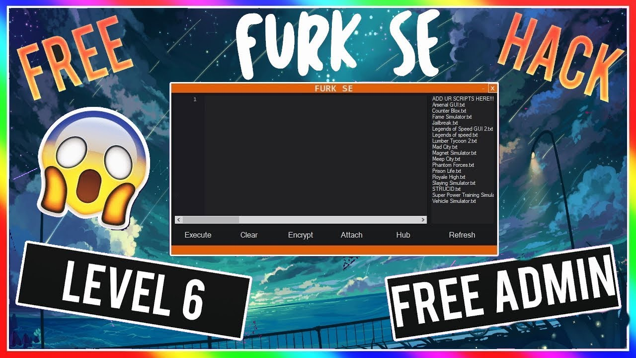 New Roblox Exploit Furk Se Working Unlimited Level 6