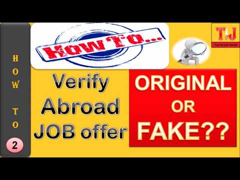 How to Verify Job Offer letter | Original or Fake | Tips for Jobs |Tips- 2